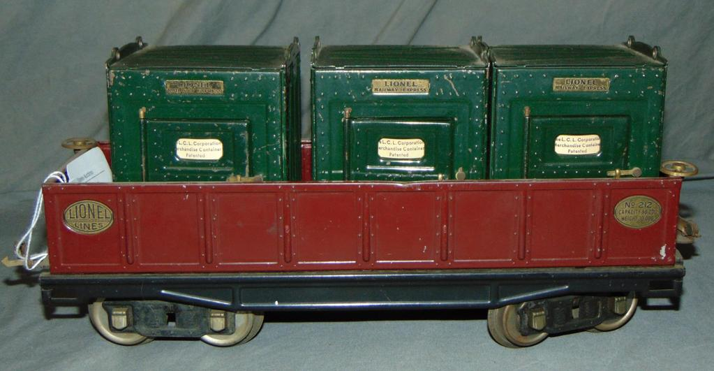 Lionel ST GA 212 Gondola & 205 Canisters