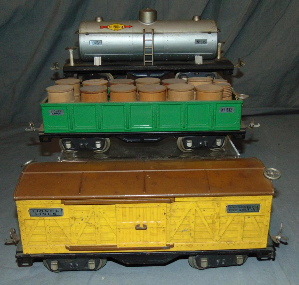 3 Late Lionel ST GA 500 Series Freight Cars