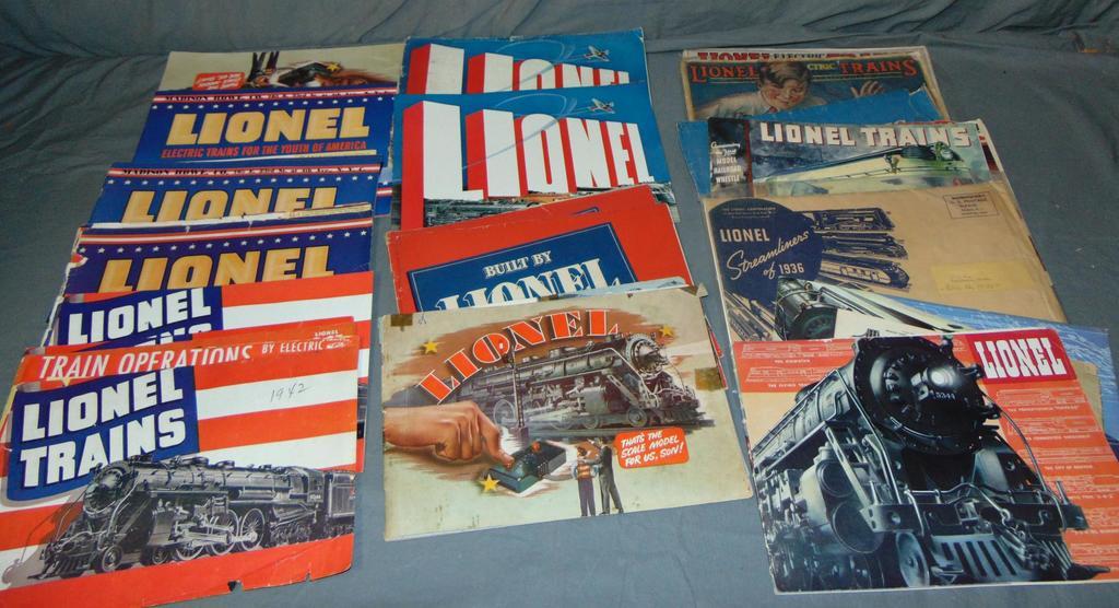 Large Group 1930s Lionel Catalogs