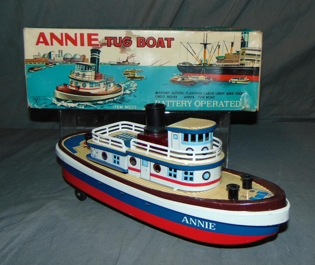 Boxed Battery Operated ANNIE Tug Boat