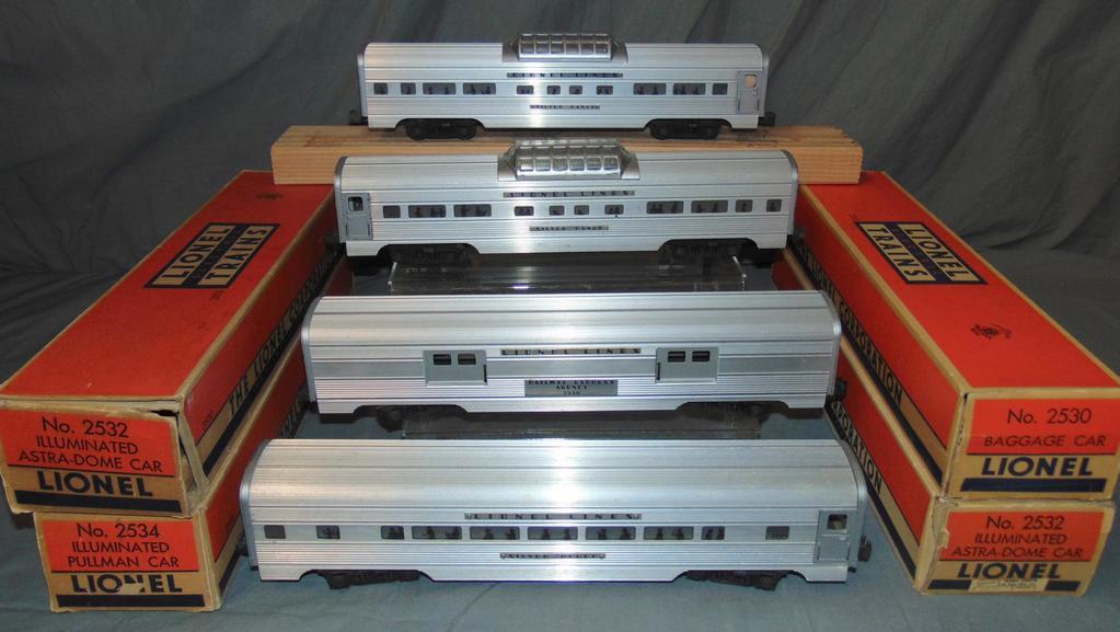 4 Boxed Lionel Passenger Cars