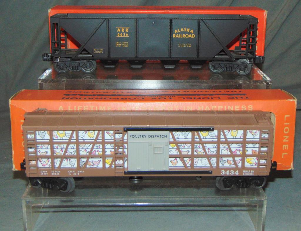 Mint Boxed Lionel 3434 & 6636 Freight Cars