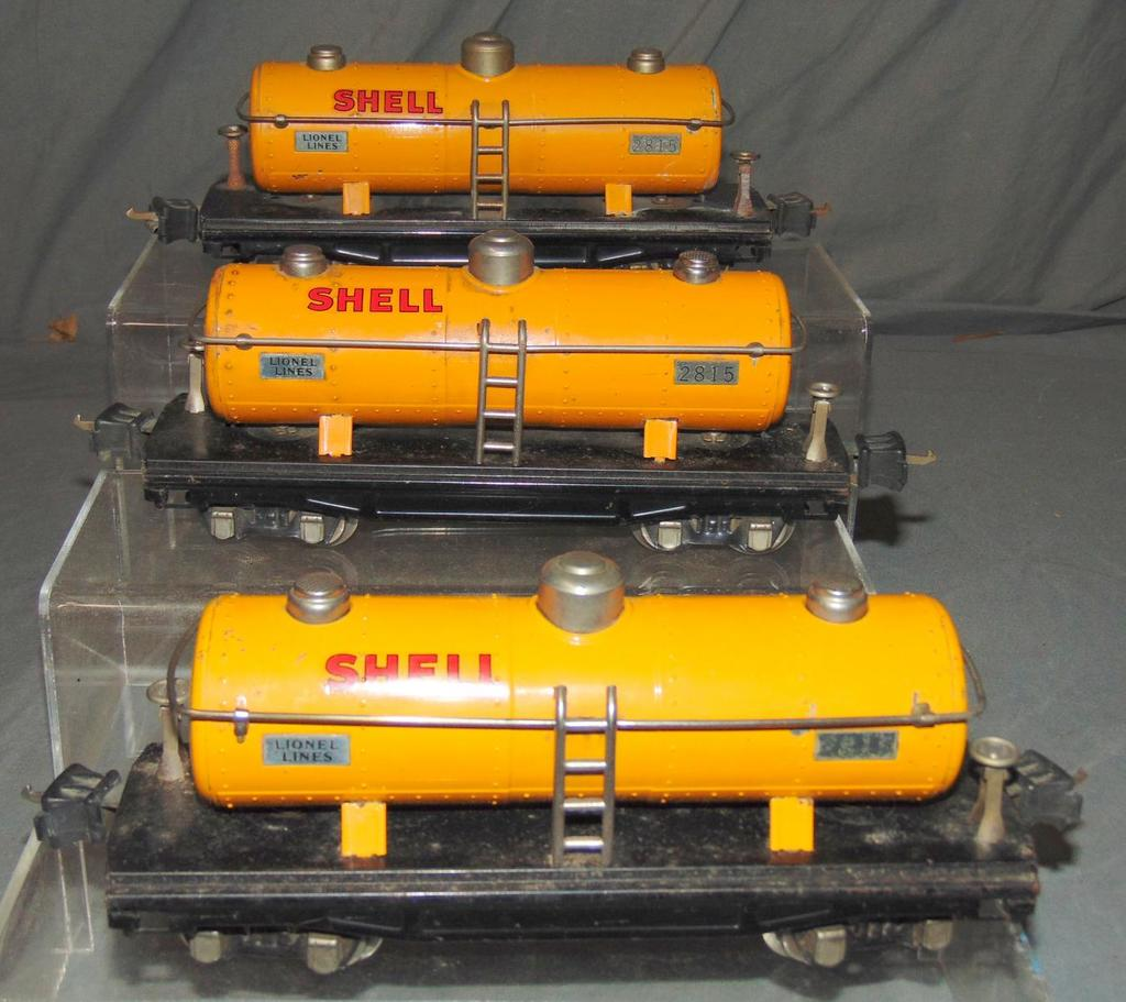 3 Lionel 2815 Shell Tank Cars