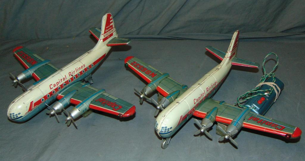 2 Linemar Capital Airlines Toy Airplanes