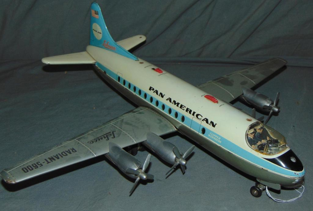 Battery Op Schuco Radiant 5600 Pan AM Airplane
