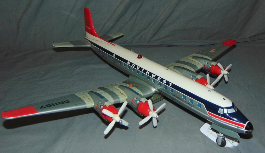 Battery Op Cragstan DC-7C Northwest Airplane
