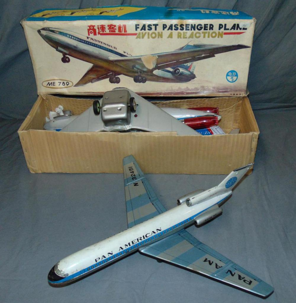 Lot of 2 Toy Airplanes, Friction & Battery Op