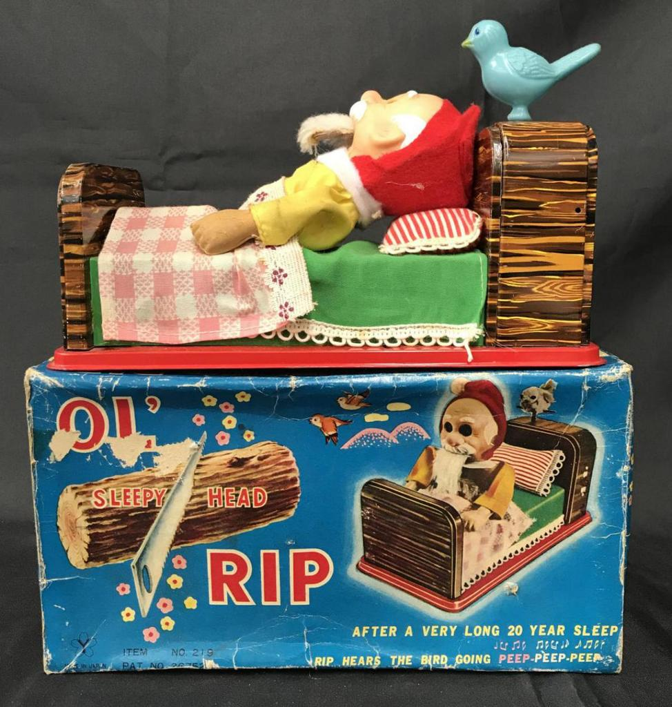 Boxed Battery Operated Ol' Sleep Head Rip