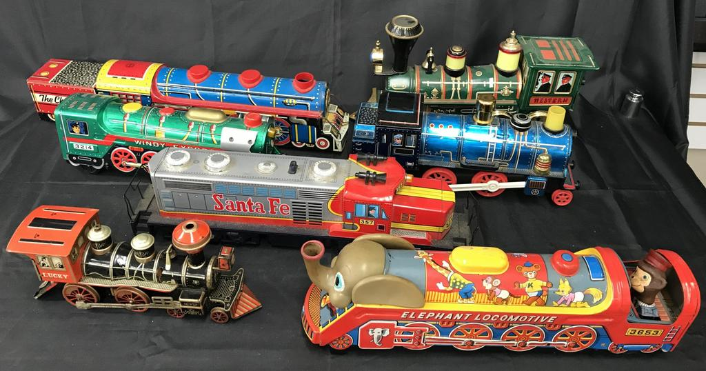 Box Lot of Battery Operated Locomotives