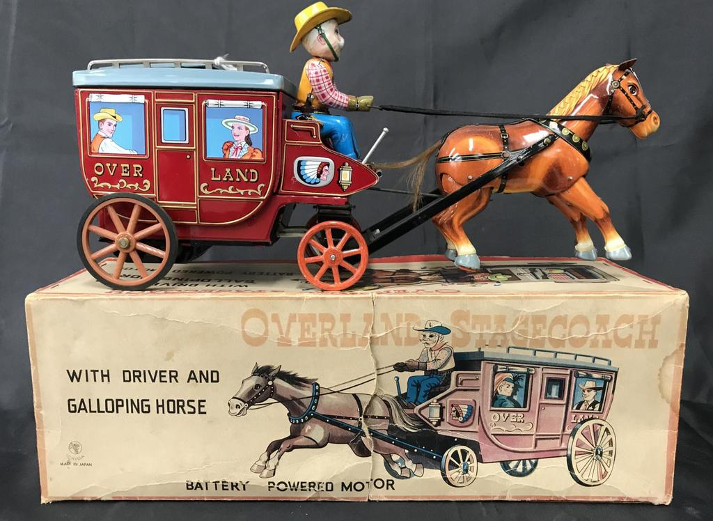 Boxed Battery Op Cragstan Overland Stagecoach