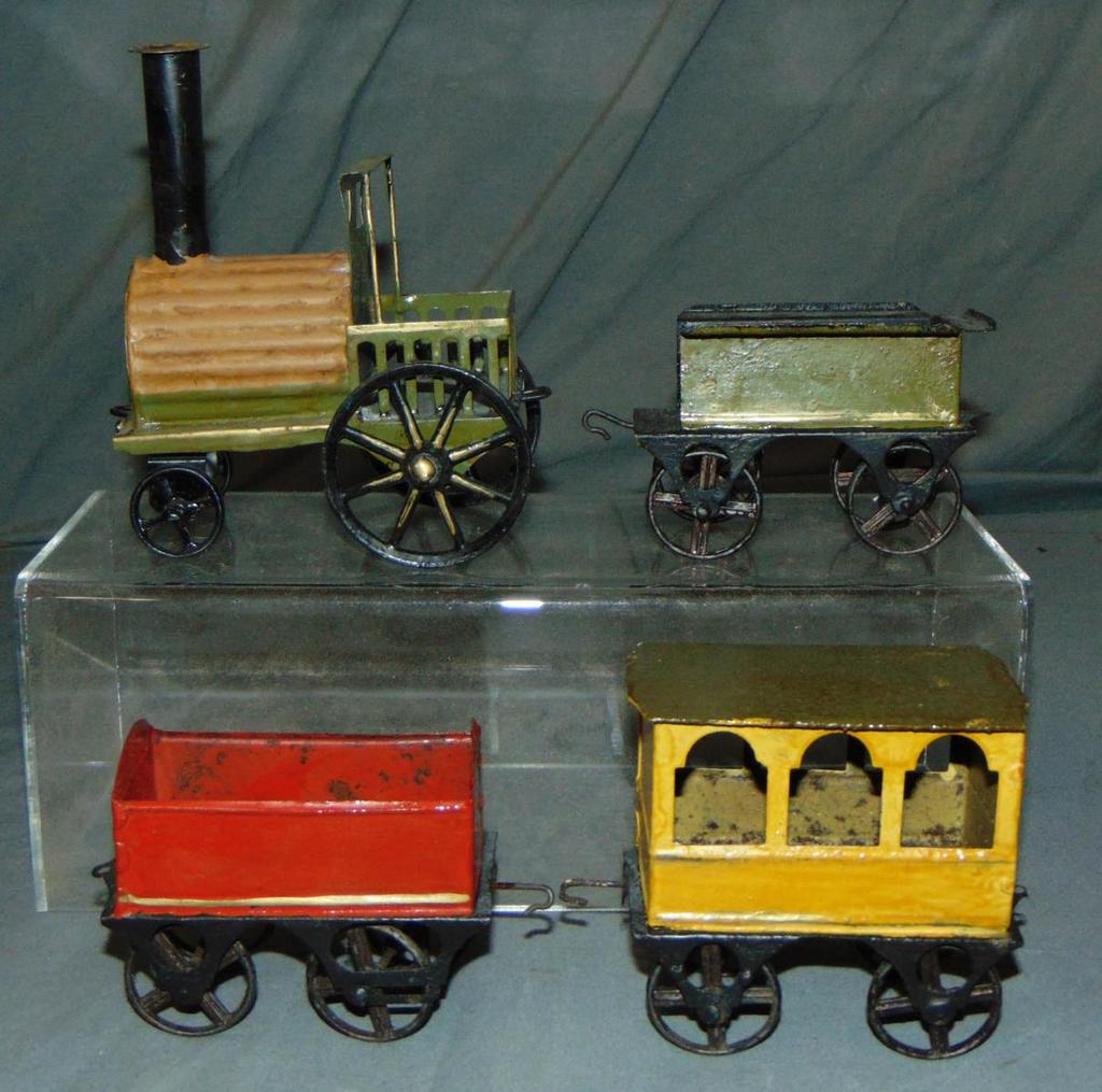 Nicely Restored Early French Floor Train
