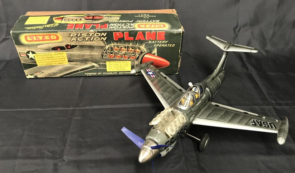 Battery Operated Piston Action Plane Boxed.