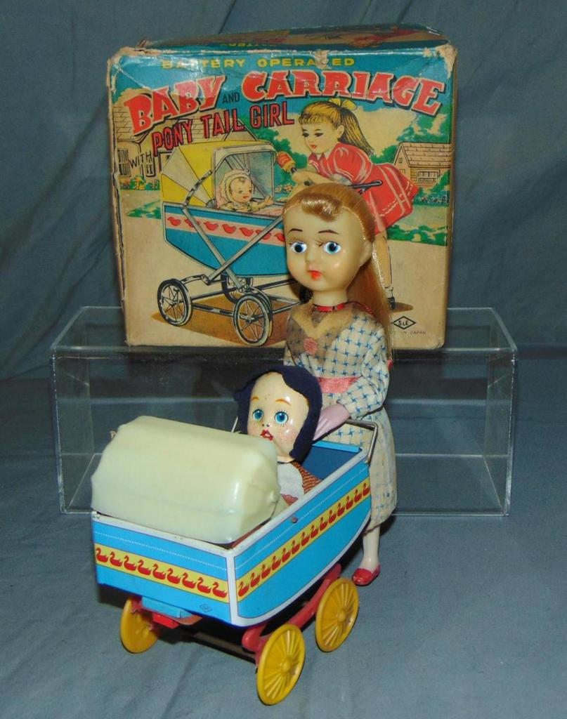 Boxed Battery Operated Baby & Carriage