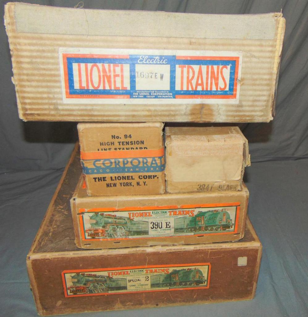 5 EMPTY Lionel ST GA Boxes