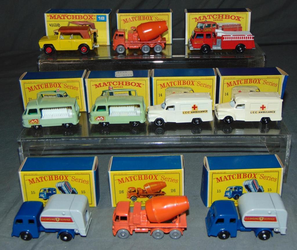 Store Stock Matchbox Lot of Ten.