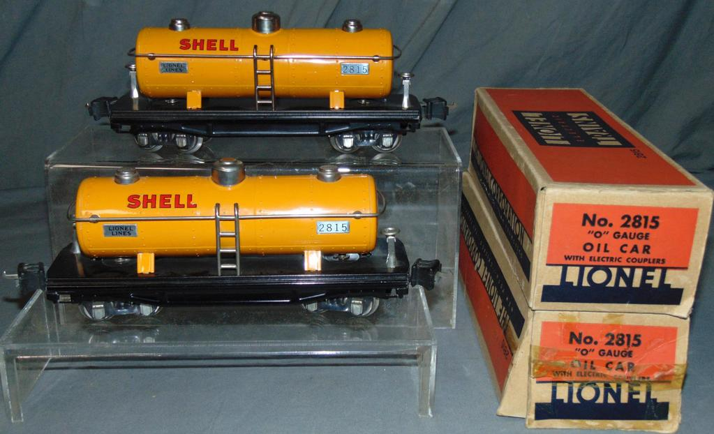 2 Clean Boxed Lionel 2815 Shell Tank Cars
