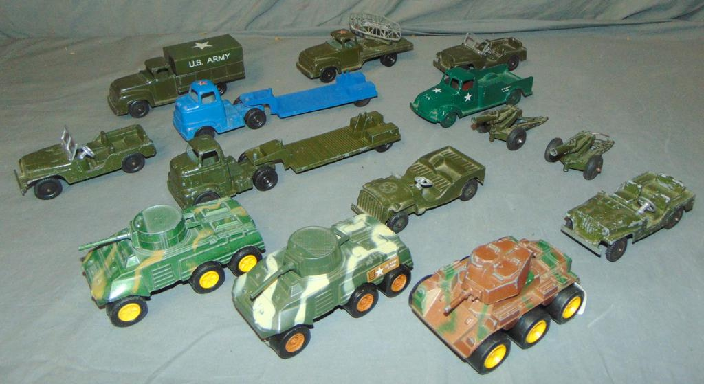 14pc ToosieToy Military Vehicle Lot