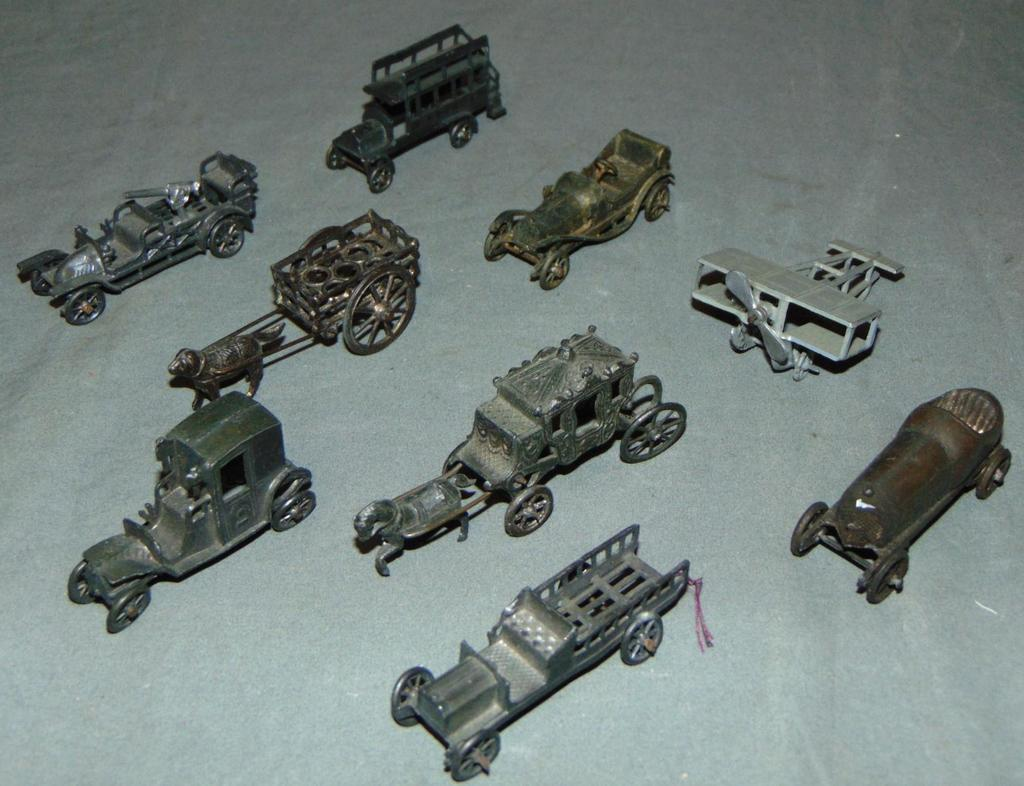 9 Early French Diecast Vehicles