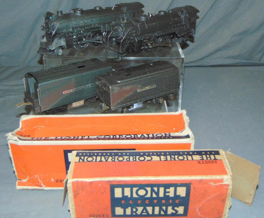 Lionel Gunmetal 229 & 225E Steam Locos