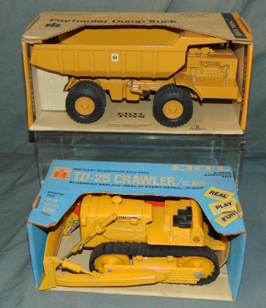 2 Scarce Boxed Ertl Construction Trucks