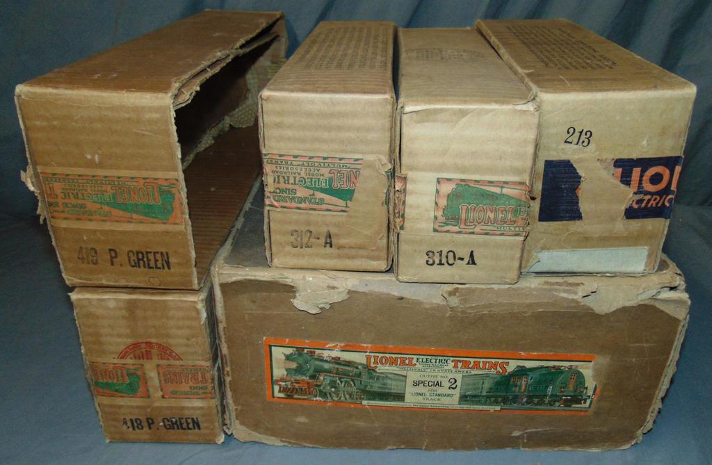 6 EMPTY Lionel ST GA Boxes