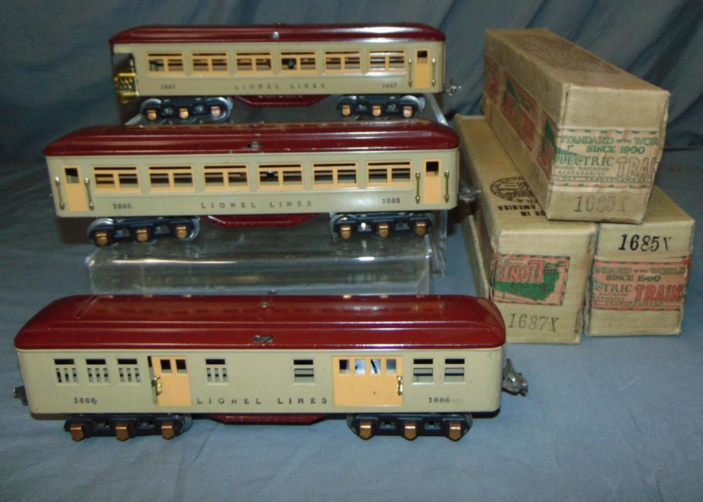 3 Rare Lionel Transition Passenger Cars