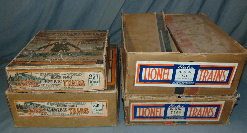 4 Clean EMPTY Lionel Set Boxes