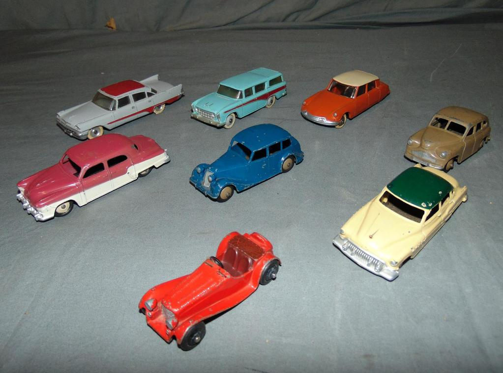 8 Vintage Dinky Vehicles