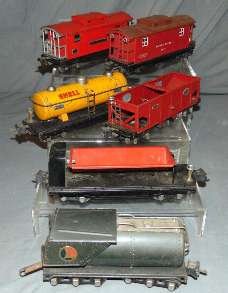 6Pc Lionel Freight Cars, Plus