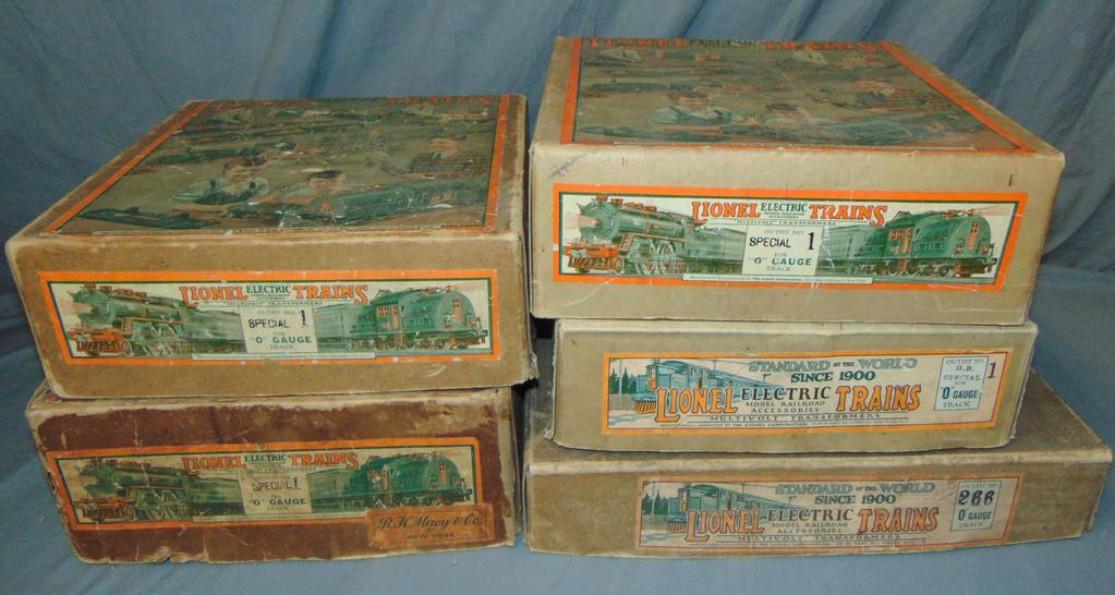 5 EMPTY Lionel Set Boxes