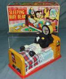 Linemar Battery Operated Sleeping Baby Bear.