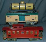 3 American Flyer ST GA Freight Cars
