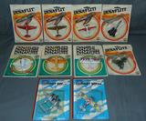 10 Mint on Card Mini Diecast Toy Airplanes