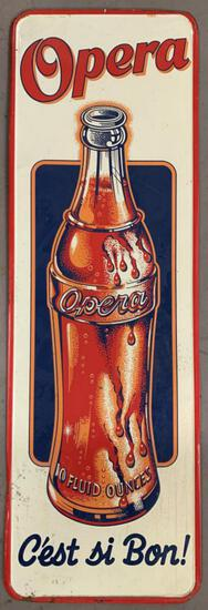Opera Soda Tin Litho Advertising Sign