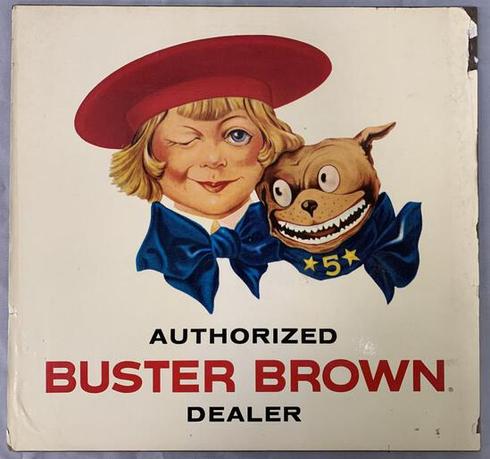 Buster Brown Authorized Dealer Counter Sign