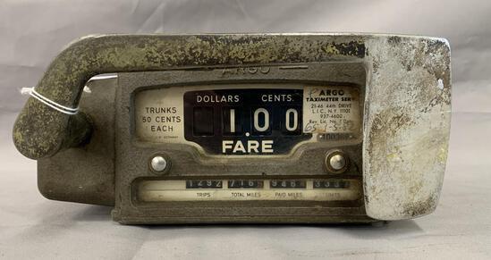 Vintage 1950's Argo Taxi Cab Meter