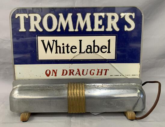 Trommer's White Label Beer Light Up Sign