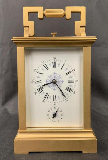 Dore Bronze French Repeater Carriage Clock