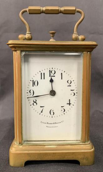 Bailey Banks & Biddle Carriage Clock, Philadelphia