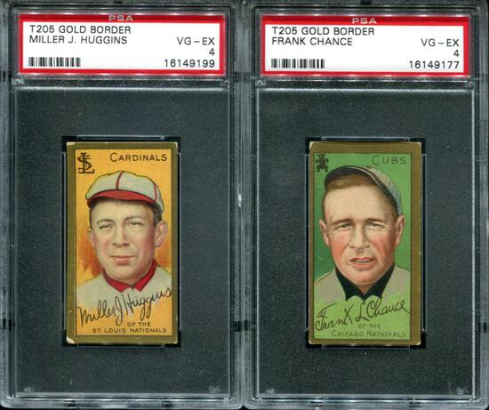 T-205 Lot of Two PSA Graded 4.