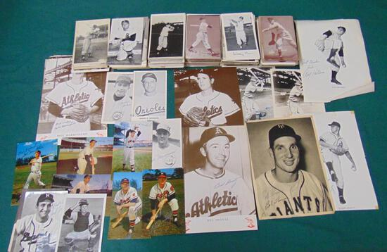 Estate Lot of Signed Baseball Exhibit Cards.