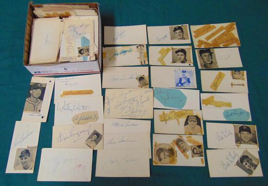 Estate Lot of Approx. (400)  1950's Autographs.