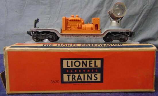 Scarce Boxed Lionel 3620 Searchlight Car