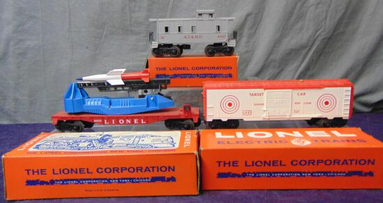 3 LN Boxed Lionel Freight Cars