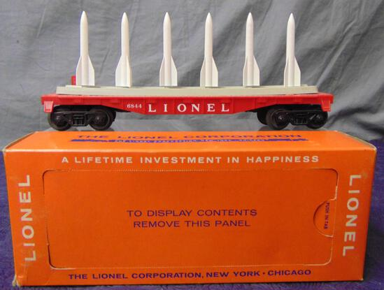 Rare Boxed Lionel 6844 Red Missile Flat