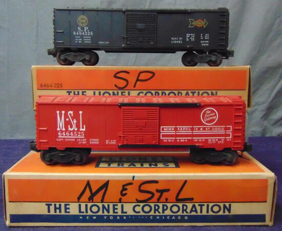 2 Boxed Lionel 6464 Boxcars