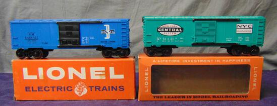 2 Late Boxed Lionel 6464 Boxcars