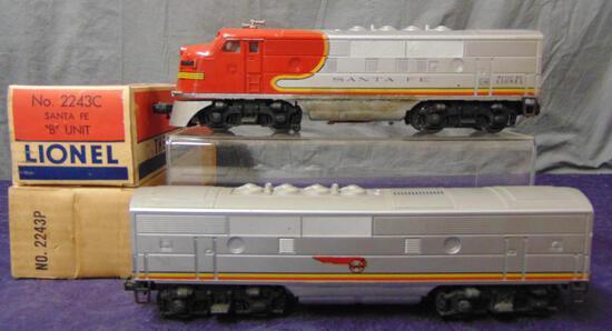 Boxed Lionel 2243 SF F3 AB Diesels, TLC