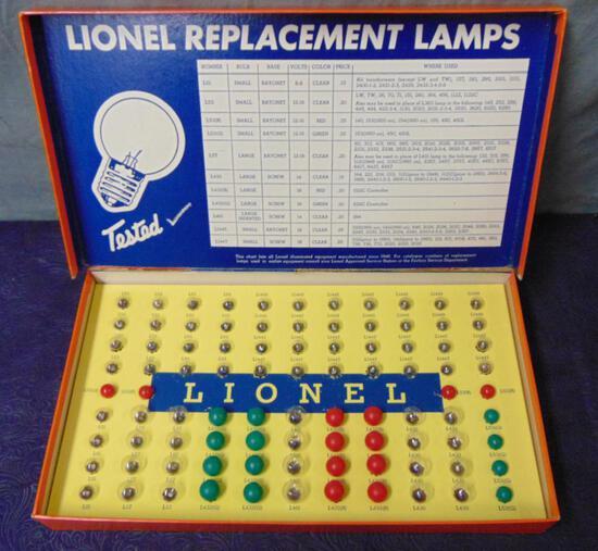 Boxed Lionel 123 Dealer Bulb Assortment
