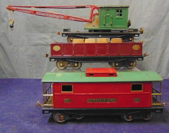 Lionel 212, 219 & 217 Freight cars